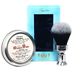 Woodland Umber Luxury Shaving Soap and Calliditas Shaving Brush