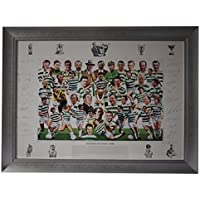 Sportagraphs Legends of Celtic Park SIGNED FRAMED Huge Photo Autograph x22 Football AFTAL COA