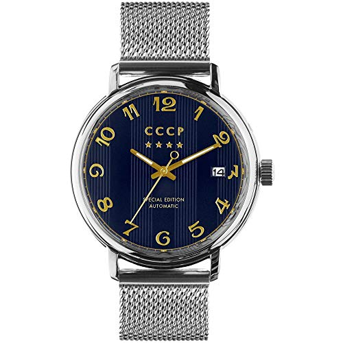 CCCP Men's Heritage 43mm Steel Bracelet & Case Automatic Watch CP-7021-44