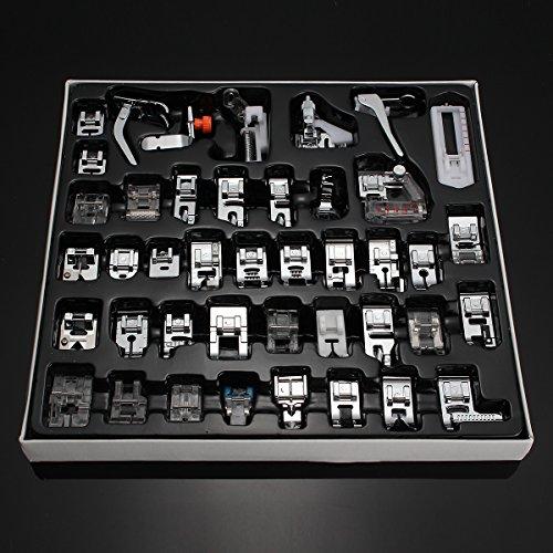 HITSAN 42 PCS Domestic Sewing Machine Foot Presser Feet Kit Sewing Machine Accessories One Piece