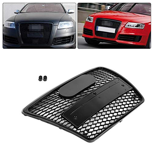 DHFBS Auto Frontgrill Für RS6 Style Front Sport Hex Mesh Wabenhaube Grill - Grill Nutzungsdauer