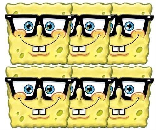 Spongebob Schwammkopf Brille Party Masken x 6