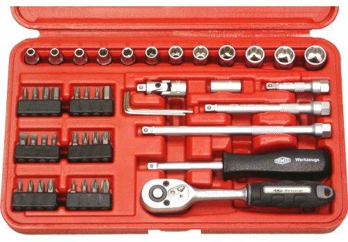 Famex 590-40  Mechaniker Steckschlüsselsatz,  6,3mm (1/4-Zoll)-Antrieb,  4-13mm,  47 tlg.