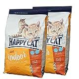 2 x 10 kg Happy Cat Indoor Adult Atlantik-Lachs