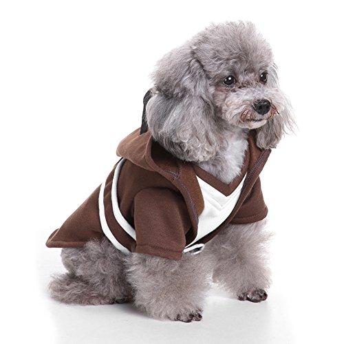 Pet Coat dexinghaoye Hund Doggy Puppy Classic Knight Robe Umhang mit Kapuze Pet Kostüm Halloween (Kapuzen Robe Kostüme Dress)