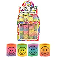 Henbrandt 12 x Mini Smiley Springs - Party Bag Fillers