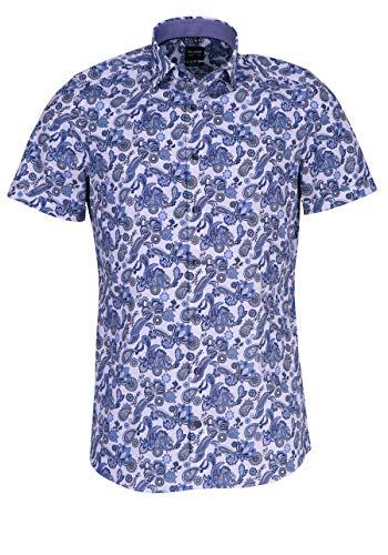 Olymp Level Five Herren Hemd Body Fit Kurzarm bleu (50) 40 -