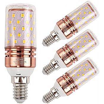 E14 LED Maíz Bombillas 12W AC85-265V 1000LM, 100W incandescente bombillas equivalentes, Blanco