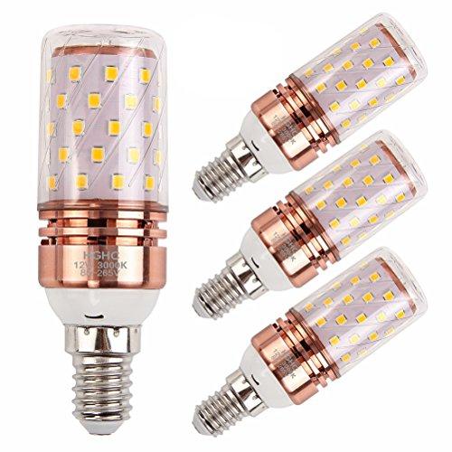 LED E14 Lampe Birne 12W Warmwei 3000K 1200LM Ersatz fr 100W Halogenlampen, Kleine Edison-Schraube Kerze Leuchtmittel (4er-Pack)