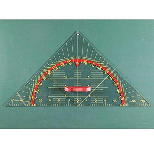 FTM Geometriewinkel Tafel Zeichengerät 45°, 80cm mit Griff für Whiteboard, Schulbedarf und Lehrmittel