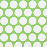 Tela verde lima de lunares blancos de Robert Kaufman Spot On por Studio RK