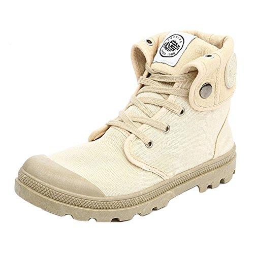 Damen Outdoor High Stiefel Combat Boots Multifunktions-Wüste Wanderschuhe Leinenschuhe Canvasschuhe Sneaker Outdoor Damen Stiefel