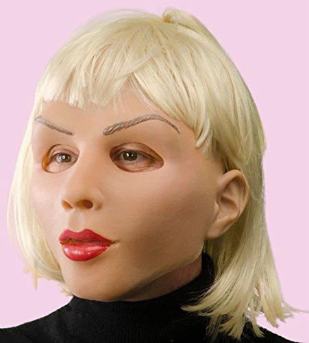 Diva Maske aus Schaumlatex mit blonden Haaren