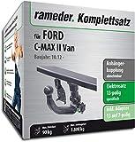 Rameder Komplettsatz, Anhängerkupplung abnehmbar + 13pol Elektrik für Ford C-MAX II Van (142781-13360-1)