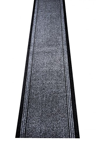 havatex Schmutzfang Läufer Kongo - und schadstoffgeprüft | pflegeleicht schmutzresistent robust und strapazierfähig | Flur Diele Eingang Küche Küchenteppich, Farbe:Grau, Größe:80 x 300 cm