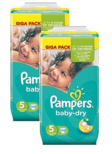 Pampers Baby Dry Größe 5 Junior 11-25kg Giga Pack (2 x 108 Windeln) 216 Windeln