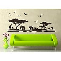 ufengke® Praterie Africane Animali Elefante Nero Giraffe
