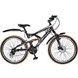 Hero RX2 26T 21 Speed Sprint Cycle with Disc Brake - Black & Orange