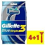 Gillette Blue simple3Rasoi Usa e getta per gli uomini,  confezione da 3X 5pezzi