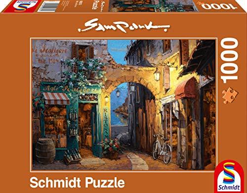 Schmidt Spiele Puzzle 59313-Sam Park, gässchen Am Lago, 1000Piezas