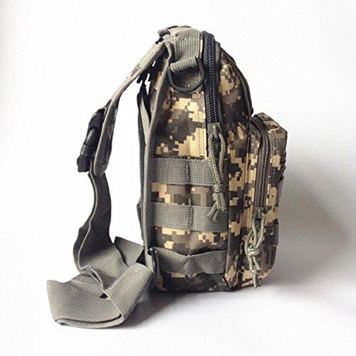 Marsupio Militare Armi tattiche Outdoor Sport Petto Borsa da escursionismo Army maschio Marsupio impermeabile, ACU Digital Python pattern black