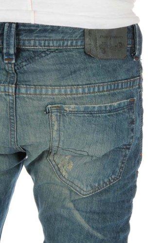 Diesel Iakop 0816K dei jeans degli uomini Slim Skinny Blu