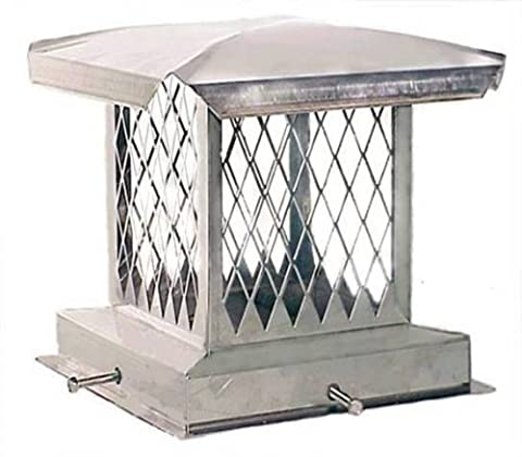 The Forever Cap CCSSE1317 13 x 17-Inch Stainless Steel Single Flue Diamond Mesh Chimney Cap by The Forever Cap