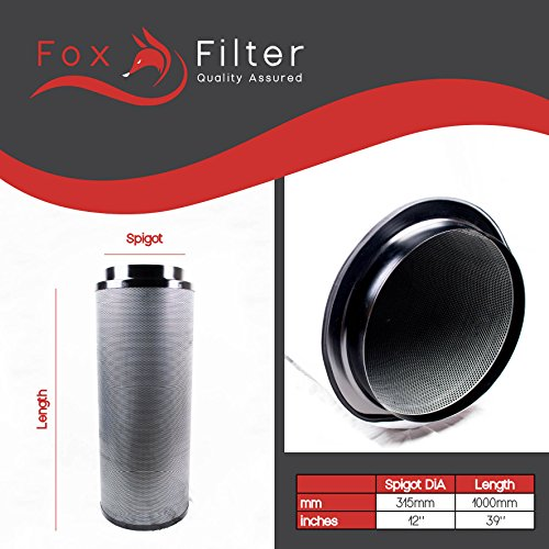 Fox Hydrokulturfilter für den Innenbereich, 315 x 1.000 mm (Fox Ventilator)