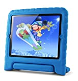 Lavolta Eva Ständer Kinder Case Stoßfest Schutzhülle für Apple iPad 2 3 4 Neu Retina Tablet PC - Blau
