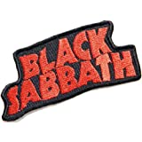 BLACK SABBATH Heavy Metal Rock Punk Music Band Logo Patch Sew Iron on Embroidered Polo T-shirt Vest Cloth ,Size 4.25Inch X 2Inch by Heavy Metal Rock Patch