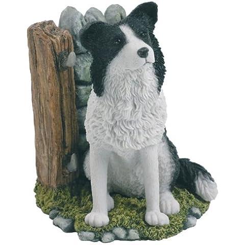Border Collie adorno de perro figura decorativa con moldes Bowbrook