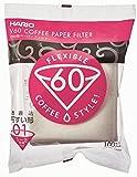 Hario Papierfilter weiß / Filtertüten Misarashi, klein für V60-01, 100 Stück