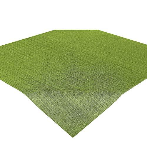 Delindo Lifestyle Tischdecke Samba, grün, Mitteldecke in 85x85 cm, Fleckschutz, abwaschbar, für Indoor und Outdoor
