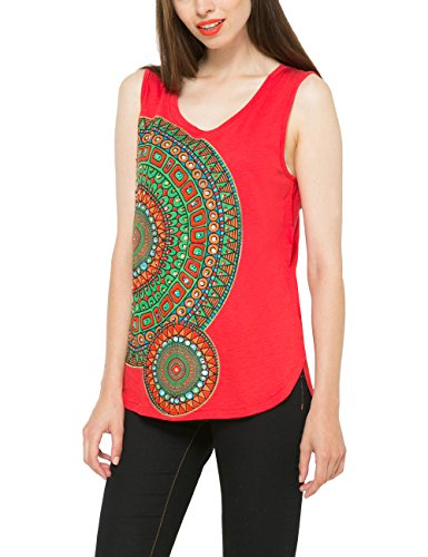 Desigual ANAEL-T-shirt Donna, Red (Carmine), XX-Small (Taglia produttore: XS)