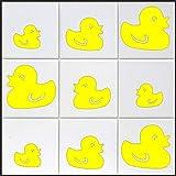 10 x Enten Aufkleber in 's' ca. 10 cm aus Hochleistungsfolie, für Fliesen, Autos, Wände , und alle glatten Flächen, BD WC Sticker Fliesebaufkleber viele Farben zur Auswahl