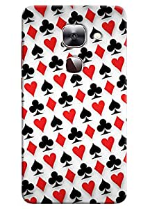 Omnam Playing Card Pattern Printed Designer Back Cover Case For LeTv Le2