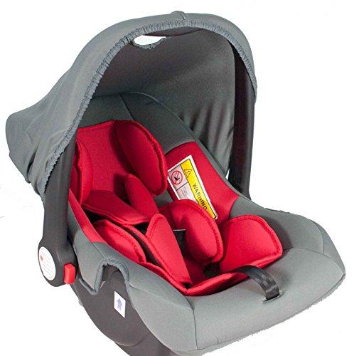 Babyschale United-Kids Babys Dream Gruppe 0+ 0-13 kg rot-grau