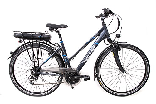 "28\"" Zoll Fischer Alu Damen Elektro Fahrrad E-Bike Pedelec Trekking Shimano 24 Gang 36V/14,5 Ah anthrazit B-Ware"