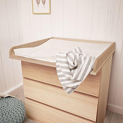 Polini Kids - Cambiador infantil en madera de haya para cómoda Malm de Ikea en diferentes colores