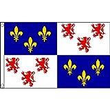 Picardie drapeau 5 ft X 3 ft France département Banderole avec 2 œillets-Neuf...
