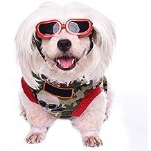 Awhao Gafas de sol para perros Gafas de protección solar Gafas a prueba de agua Para los perros pequeños&Rojo