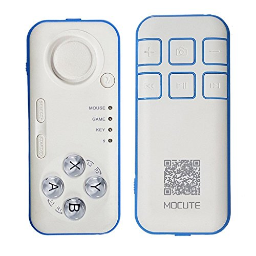 eless Remote Controller VR BOX's Partner Gamepad Joystick Controller Selfie Remote Shutter For Android IOS Ebook iPod iPad PC TV Devices With Bluetooth 3.0 Or Above Version (Universal Remote Controller)