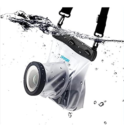 Zonman DSLR Underwater Universal Waterproof Housing Case Professional Digital Camera Protective Pouch Bag Specially for Floating Boating Fishing Outdoor Water Relating