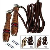 RDX Boxe Réglable Corde à Sauter Cuir Vitesse Perte Poids Câble Crossfit Skipping Rope Entrainement Fitness