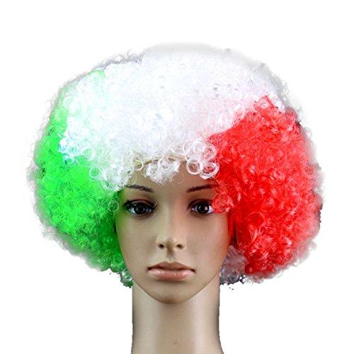 der Nationalflagge der WM 2018FIFA-Weltmeisterschaft in, Fans, Kostüm Perücke mit ideal als Dekoration für Fußballfans Cheerleader-Anhänger (Party Mart Kostüme)