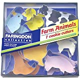 Swift Set of 7 Farm Animal Cookie Cutters