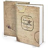 XXL Rezeptbuch zum Selberschreiben ITALIENISCH LE MIE MIGLIORI RICETTE Nostalgie beige alt vintage DIN A4 + Register Mein Kochbuch Rezepte Lieblingsrezepte Geschenk Küche Kochen