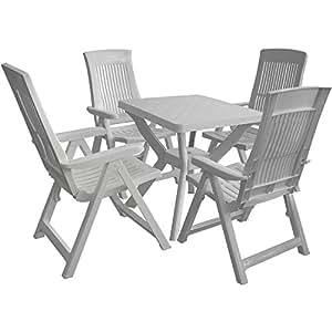 Manche plastique ensemble table 70 x 70 cm chaise de for Chaise 70 cm