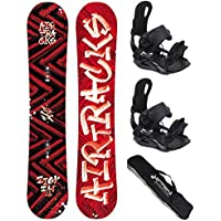 AIRTRACKS SNOWBOARD SET - TABLA DIRTY BRUSH 150cm - FIJACIONES MASTER M - SB BAG