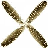 1 Truthahnfeder bronzefarbig Ritualtinte Schreibfeder Feder Räucherfeder